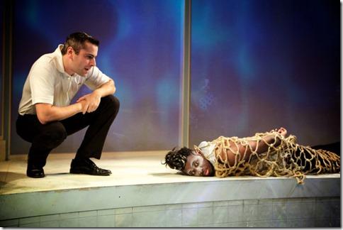 Matt Fletcher and Gregory Geffrard star in Tilikum, Sideshow Theatre