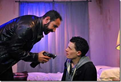 Joe Lino and Cody Lucas star as David and Luke in Tres Bandidos, Agency Theater Collective