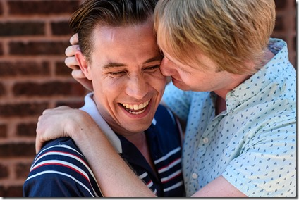 Jude Hansen and MIcah Kronlokken  star in Holding the Man, Pride Films and Plays