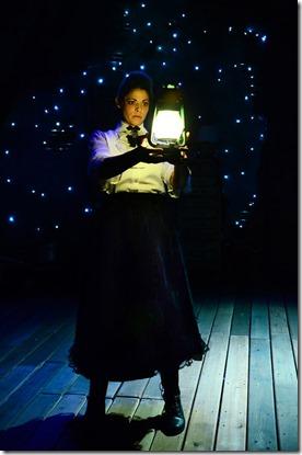 Ann Sonneville stars as Victoria in Frankenstein, Lifeline Theatre