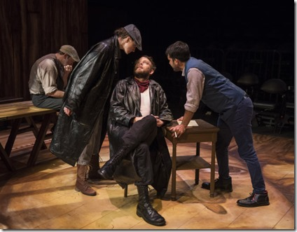 Brad Woodard, Christina Gorman, Drew Schad and Christopher Acevedo star in Crime and Punishment