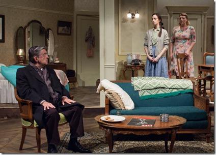 Charles Stransky (Mordechai), Emily Berman (Lusia) and Bri Sudia (Rose) star in A Shayna Maidel, TimeLine Theatre