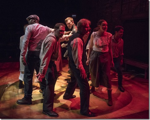 Drew Schad and ensemble star in Crime and Punishment, Shattered Globe