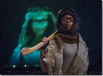 Tia Pinson stars as Cozbi in Borealis, The House Theatre of Chicago