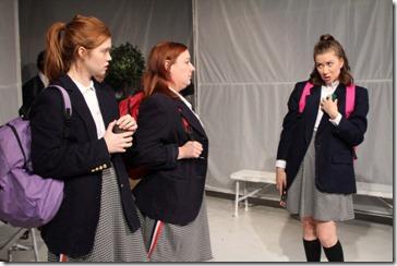 Caroline Hendricks, Lauren Pizzi Montgomery and Maggie Scrantom star in Hooded