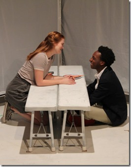 Caroline Hendricks and Jayson Lee star in Hooded or Being Black for Dummies, First Floor Theatre