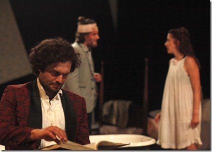 Jacob Alexander (Jeremiah), Maria Stephens (Phoebe) and Elliot Baker (Liam) star in Phoebe in Winter, Facility Theat