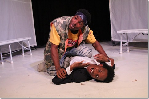 Jalen Gilbert and Jayson Lee star in Hooded or Being Black for Dummies, First Floor Theatre