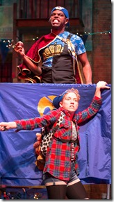 Breon Arzell and Ella Raymont star in Bros do Prose Peter Pan, Mercury Theater Chicago