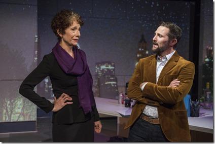 Carmen Roman and Josh Odor star as Marie and Julian in Scientific Method, Rivendell Theatre