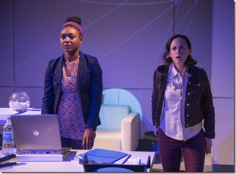 Courtney Williams and Ashley Neal star as Makayla and Amy in Scientific Method,  Rivendell Theatre