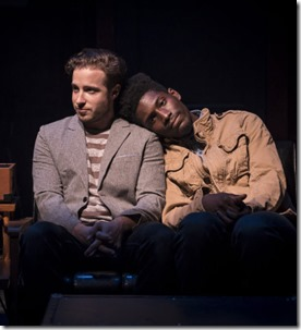 Daniel Desmarais and Sheldon Brown star as Neil and Jesse in This Bitter Earth, About Face Theatre 4