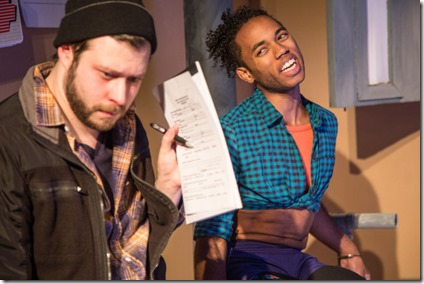 David Weiss and Ben Locke star as Pete and Jomal in Plainclothes, Broken Nose Theatre
