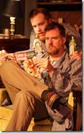 Dylan Todd and Robert Tobin star in The Lonsome West, AstonRep Theatre