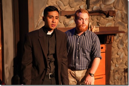 Mark Tacderas and Dylan Todd star in The Loneseome West, AstonRep Theatre
