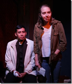 Mark Tacderas and Phoebe Moore star in The Lonesome West, AstonRep Theatre
