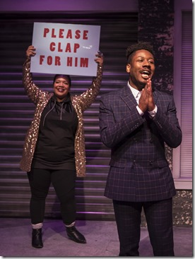 Sasha Smith and Jerome Beck star in Rightlynd by Ike Holter at Victory Gardens Theater