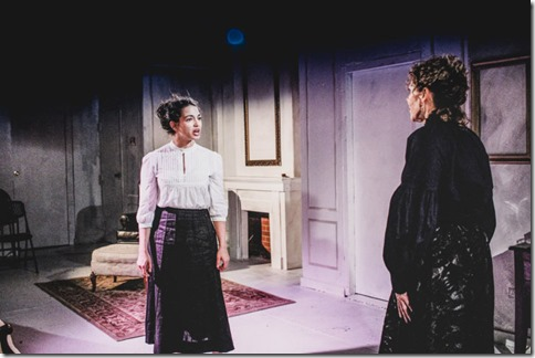 Sophie Hoyt (Regina Engstrand) and Jacqueline Grandt (Helen Alving) star in Ghosts, Redtwist Theatre