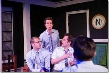 Taylor Glowac, Charles Askenaizer, Samual Cheeseman and Chad Bay star in Love's Labour's Lost, Invictus Theatre