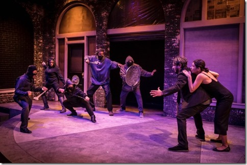 The cast of Rightlynd by Ike Holter, Victory Gardens Theater