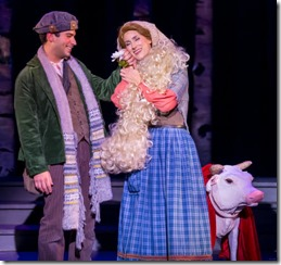 Daniel Tater (Baker) and Alexis Armstrong (Bakers Wife) star in Into the Woods, Music Theater Works