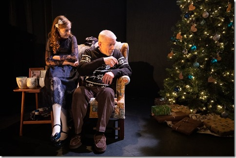 Molly Southgate and Mike Rogalski star as Cora and Grandfather in The Winter Wolf, Otherworld Theatre 5