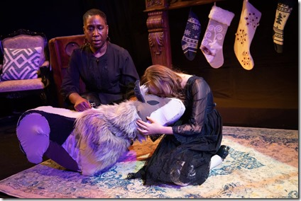Shariba Rivers and Molly Southgate star as Winter Wolf and Cora in The Winter Wolf, Otherworld Theatre 2