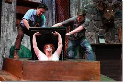 Jordan Dell Harris, Caitlin Jackson and Josh Kemper star in Evil Dead the Musical, Black Button Eyes