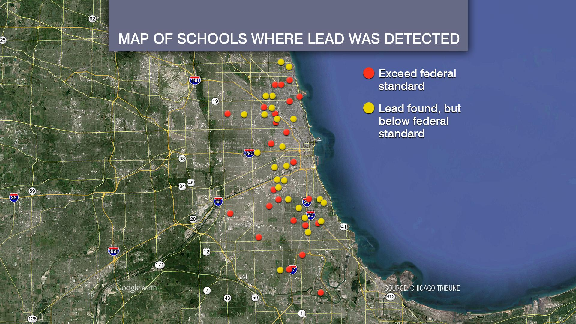 Lead Water Map Chicago
