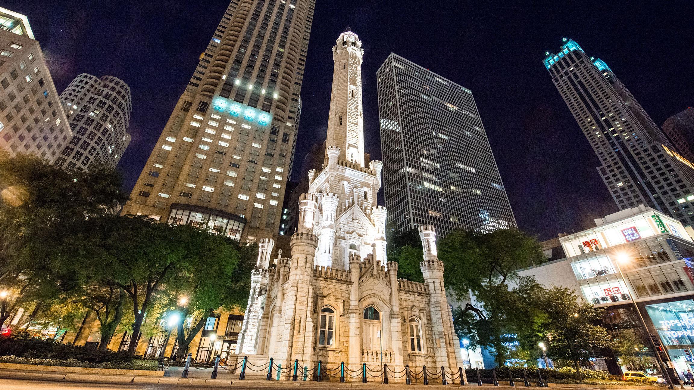 Geoffrey White Castle Inspired Chicago Water Tower Tonight Wttw
