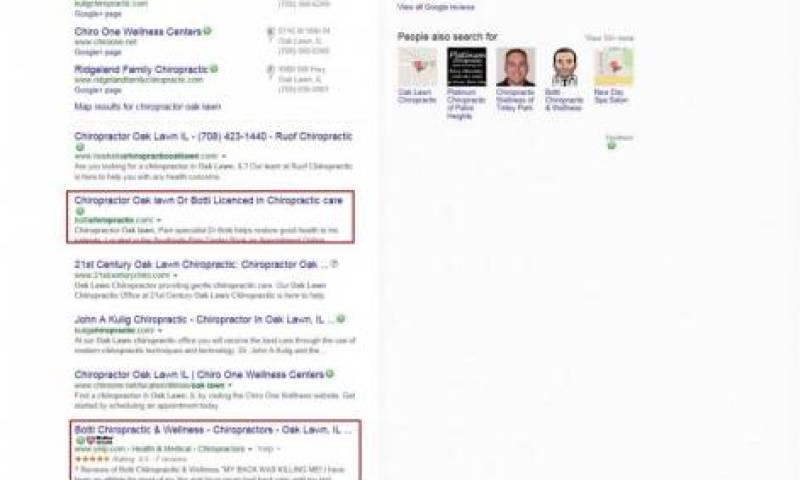 image of botti google page screenshot
