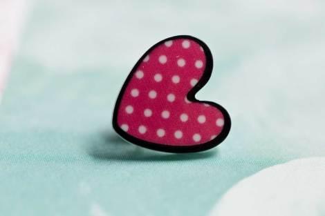 Chica Manga Polka dot heart