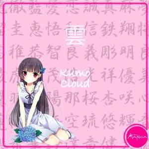 Chica Manga japanese words cloud