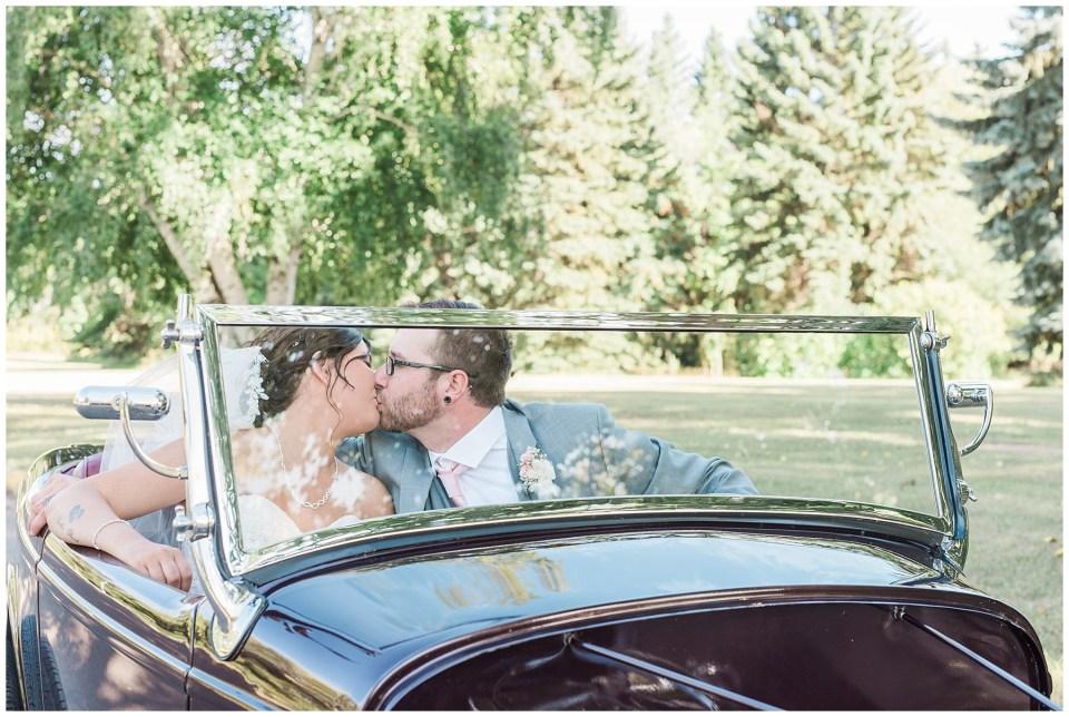 vintage car at wedding Red deer