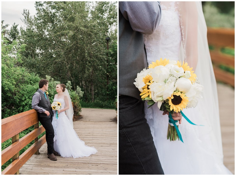 Small intimate rainy day Red Deer Wedding