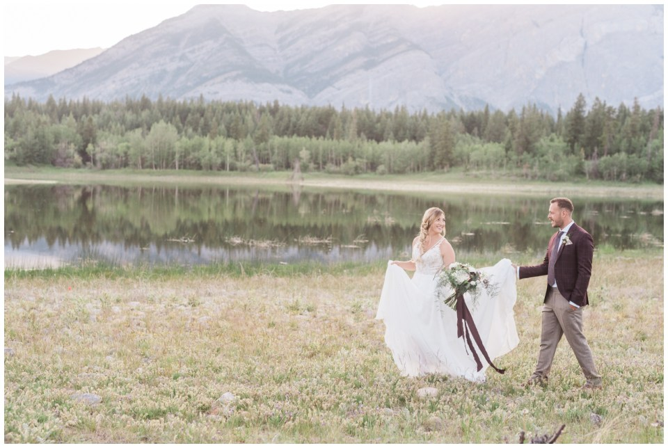 Canada day Sunset Elopement in Kananaskis