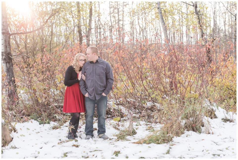 Red Deer Fall Engagement Session