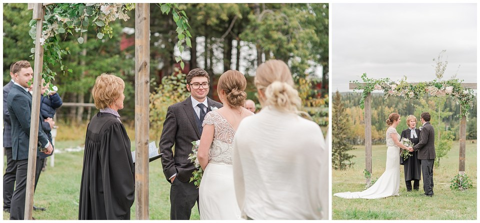 Fall wedding on farm near Rocky Mountain House