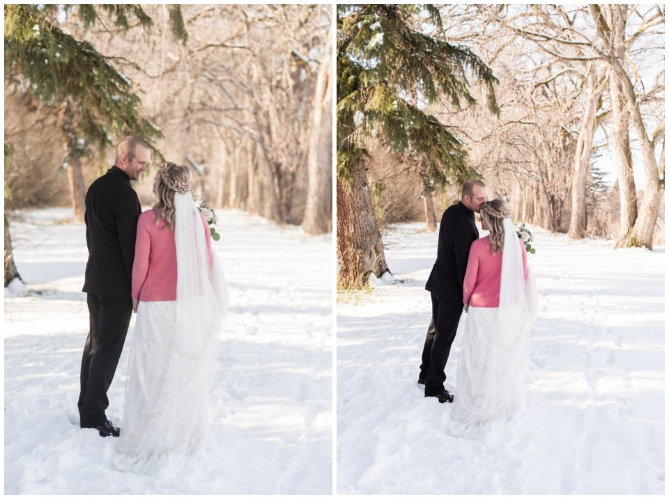Winter Wedding at Track on 2 Lacombe Alberta