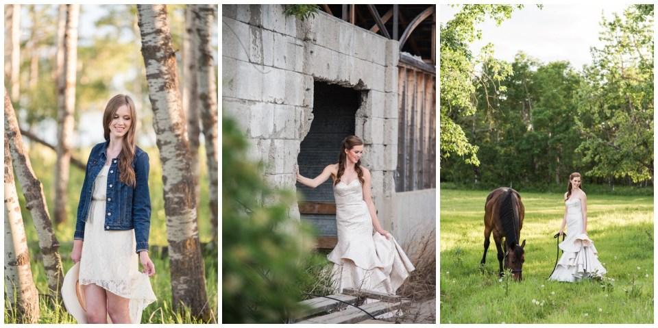 Farm Graduation Photos with Tractors & a horse