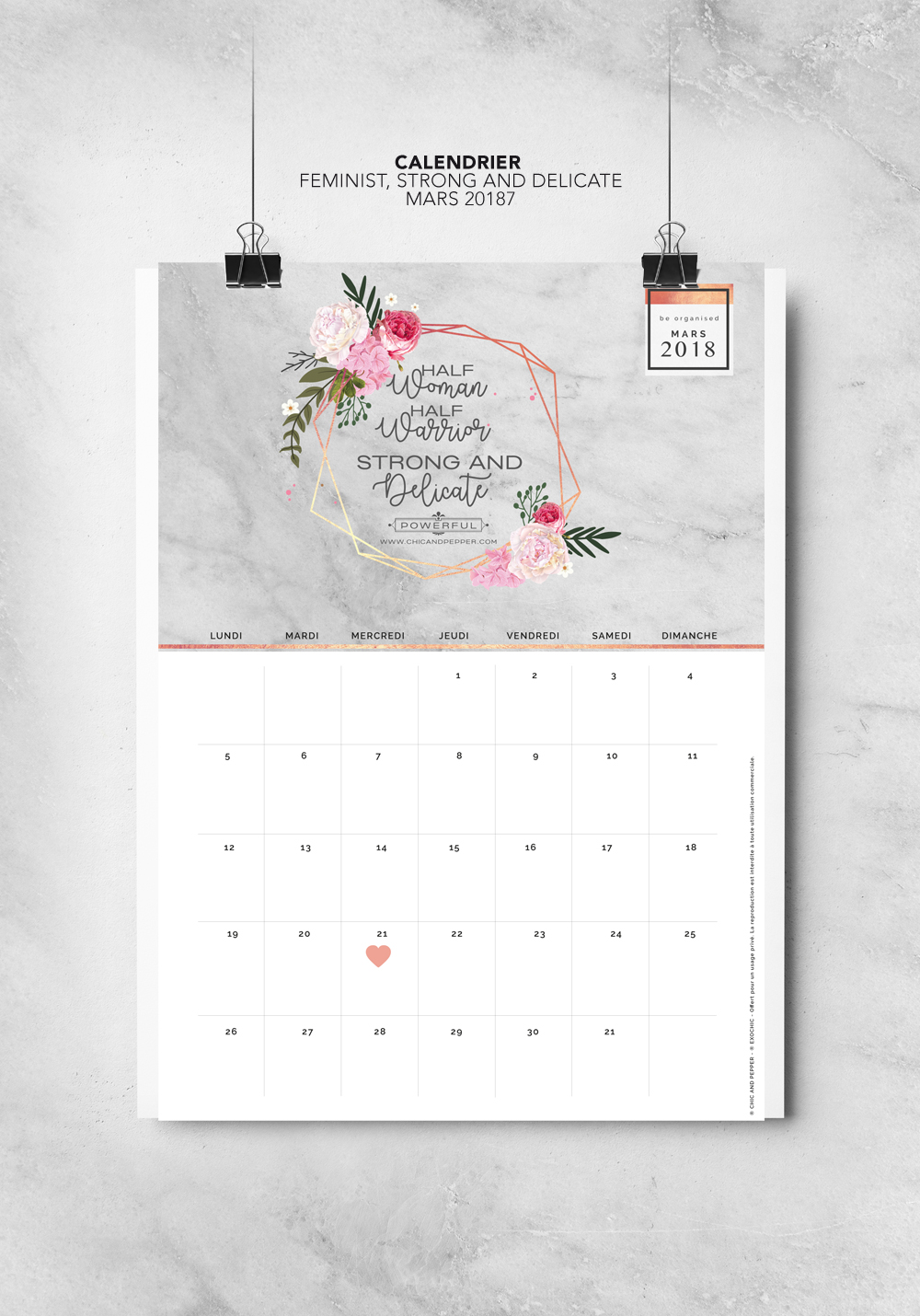 Fond Décran Calendrier 2021 Calendrier fond écran CHIC AND PEPPER Mars 2018   Chic and Pepper