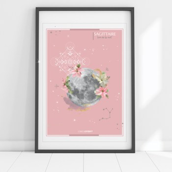 affiche Moon Sagittaire Chic and Pepper