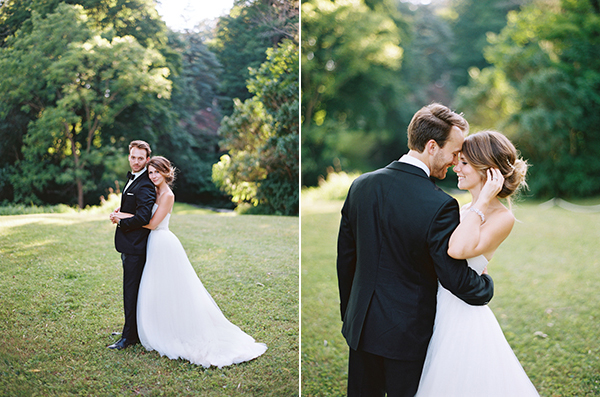 chic outdoor wedding with