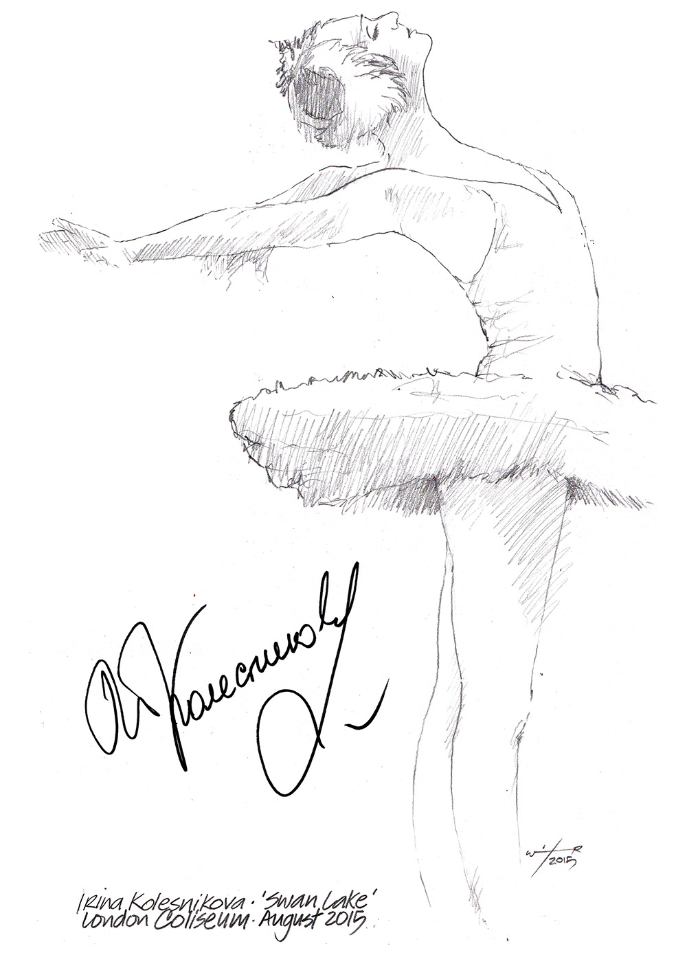 Drawing Irina Kolesnikova In Swan Lake ChicanePictures