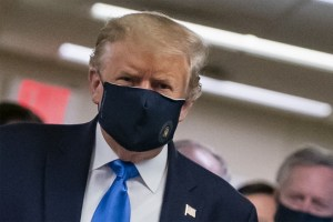 Trump with mask