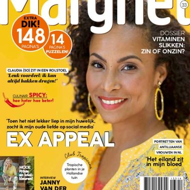 Cover Model Gina for Margriet Magazine