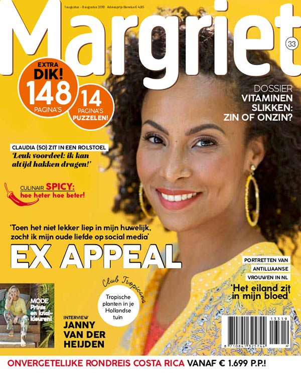 Cover Model Gina for Margriet Magazine