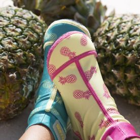 Duukies Beachsocks close up with pineapples