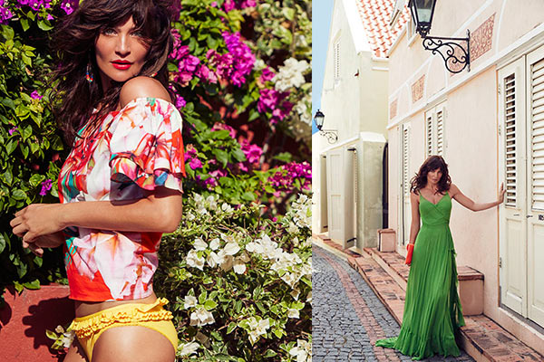 Super Model Helena Christensen on Curacao for Debenhams