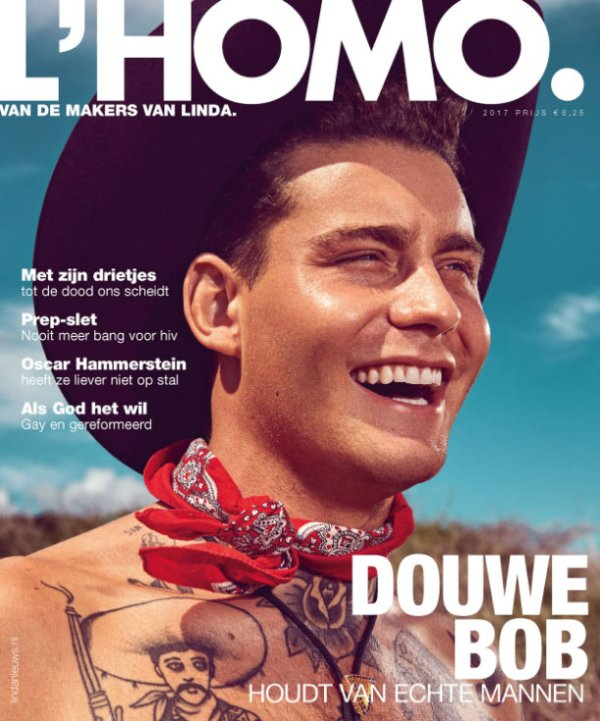 Douwe Bob on the cover of L'HOMO Magazine